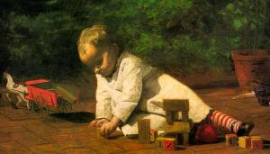 """Thomas Eakins, """"Baby at Play"""" (1876)"""